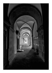 end of the tunnel (Armin Fuchs) Tags: arminfuchs lavillelaplusdangereuse würzburg juliusspital arkaden light fisheye center shadows hospital