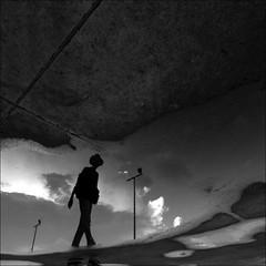 F_MG_4251-1-BW-Canon 6DII-Canon 16-35mm-May Lee 廖藹淳 (May-margy) Tags: maymargy bw 人像 逆光 剪影 水灘 倒影 街燈 街拍 線條造型與光影 天馬行空鏡頭的異想世界 心象意象與影像 台灣攝影師 幾何構圖 點人 台北市 台灣 中華民國 fmg42511bw portrait backlighting silhouette 雨後 raining puddle reflection streetviewphotography streetlamps humaningeometry humanelement linesformsandlightandshadow mylensandmyimagination natural coincidence thru lens taiwan photographertaipei citytaiwanrep chinacanon 6diicanon 1635mmmay lee 廖藹淳