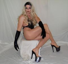 Weird pose (queen.catch) Tags: dragqueen dragrace dragmakeup wig heels hosiery pantyhose legsfordays bathingsuit crossdresser catchqueenyoutube ladyboy leotard lycra shinylycra shemale sissy pleasers gloves