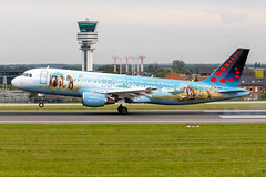 OO-SNE, Airbus A320-214 of Brussels Airlines. (David James Clelford Photography) Tags: oosne airbusa320214 brusselsairlines ebbr bru brusselsnationalairport zaventem aircraft airplane airliner airport airbus aeroplane jet jetliner aviation civilaviation 320
