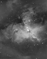 Eagle Nebula in Hydrogen Alpha, July 28, 2019,  Durham, NC. (stevenchristensen2013) Tags: eaglenebula m16 messier16 nebula eagle astrophotography narrowband atik celestron astrodon hydrogenalpha astrometrydotnet:id=nova3510226 astrometrydotnet:status=solved