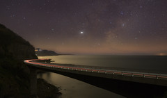 Take The Long Way Home (Emerald Imaging Photography) Tags: seacliffbridge seascape milkyway themilkyway stars bridge wollongong coalcliff sydney beach midnight lighttrails newsouthwales australia australian australianlandscape night
