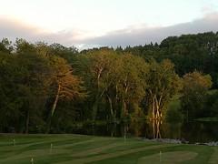 Reflection (daveandlyn1) Tags: trees lake reflection sunset holmelacey warnerholidays smartphone psdigitalcamera cameraphone pralx1 p8lite2017 huaweip8 herefordshire