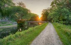 Sunrise over the IM Canal (kendoman26) Tags: hss happyslidersunday hdr nikhdrefexpro2 topazsoftware topazstudio2 imcanal iandmcanal imcanaliandmcanal sonyalpha sonya6000 sonyphotographing sel1628 sonyvclecu1 sunburst