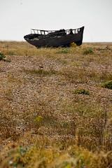 Dungeness desolation (Peter Denton) Tags: england uk southeastengland fishingboat dungeness kent shore shingle beach shipwreck wreck deterioration decline ©peterdenton canoneos100d