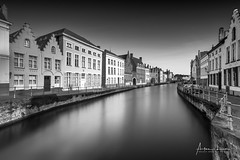 Nostalgic Bruges V (Alec Lux) Tags: bw bnw architecture art belgie belgium black blackandwhite bruges brugge building buildings canal city cityscape exterior facade fine fineart haida haidafilters longexposure outdoor outside skyline urban water white