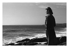 (David Ian Ross) Tags: l 1995 may canon a1 ilford hp5 35mm film 50mm history early days grain beach memory portrait 400 coast germoe bay mounts westcountry sea home rinsey