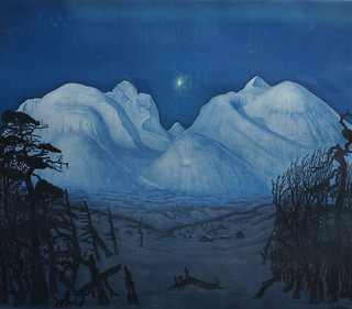 Harald Sohlberg, Winternacht in Rondane - Winter night in Rondane