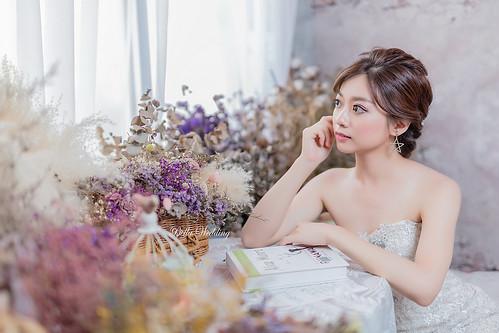 嘉義新秘,新秘,新娘造型,歐風微線條,浪漫唯美,空靈系女孩,精緻眼妝,韓系清透妝感