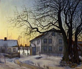 Harald Sohlberg, Winterabend - Winter night