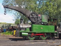 Crane Tank, Foxfield Railway 24-07-19 (Robin Patrick's Trains) Tags: cran tank foxfield railway crane