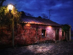 Rancho de 1724 (karinavera) Tags: night photography urban ilcea7m2 sunset rancho street blue calle uruguay colonia suspiros ríodelaplata