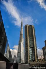 Dubai, UEA (Ben Perek Photography) Tags: dubai uea emirates arabs architecture blue sky spectacularskyscraper skyscrapers city persian gulf capital burj khalifa marina middle east urban
