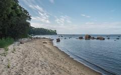 a secret beach (Seerin Kama) Tags: beach coast shore landscape sea sky water sand stone trip summer