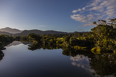 River Reflections (CraDorPhoto) Tags: canon6d landscape water calm reflection sky blue clouds nature outdoors outside newzealand southisland river