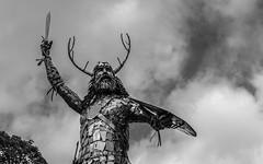 Warrior (Ronan McCormick) Tags: ilobsterit canon ireland metal publicart sculpture sword warrior