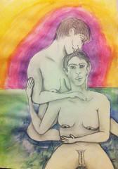 Por um momento (Fernanda Ocanto) Tags: fernandaocanto lesbicas lovegirls lesbian lapiz desenhos aquarela
