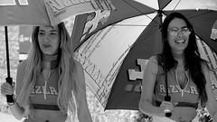 RIZLA Girls (Laurent Quérité) Tags: canonfrance canoneos7d canonef100400mmf4556lisusm noirblanc blackwhite portrait woman femme wwwworldsbkcom circuitimola autodromoenzoedinoferrari imola italie