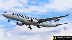 Airbus A330 Finnair OH-LTN (Pasajeros en Tránsito) Tags: airplane airplanes aircraft airport aviation aviones aviación airbus a330 finnair landing london londres lhr egll heathrow heavy spotting spotters spotter planes canon closeup clouds