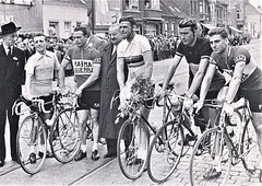 1956 Belgian champs (Sallanches 1964) Tags: rikvanlooy rikvansteenbergen stanockers roadcycling roadcriterium worldchampionroadcycling tricolore tourdefrance