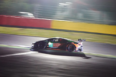 Lamborghini Huracan, 24 hours of Spa Francorchamps, 2019 (Thibault Gaulain) Tags: nikon d7200 tamron 100 400 100400 belgium belgique spa francorchamps circuit track sport course race racing voiture car auto automobile outdoor outside blancpain endurance series sro battle fight intercontinental gt challenge pirelli tyre tyres wing racecar downforce 2019 24 24h heures pluie rain weather wet pro am proam water été summer clouds fence gt3 lamborghini huracan clair obscur lowkey low key nuit night combes chicane