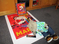 Mmmm... I likes Mars! (pefkosmad) Tags: jigsaw puzzle hobby leisure pastime used complete secondhand 1000pieces tedricstudmuffin ted teddy bear animal toy cute cuddly fluffy plush soft stuffed mars poster newyorkpuzzleco