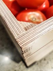 Made of Wood - [MacroMondays_20190729] (Arranion) Tags: macromondays madeofwoods macromonday wood wooden tomato case stripes macro themed theme mobile phone samsung madeofwood