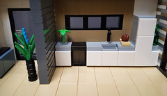 Dune House MOC. Hallway and kitchen. (betweenbrickwalls) Tags: lego afol moc house modernhouse home homestyling interiordecor interiordesign