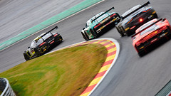 The wild hunt, 24 hours of Spa Francorchamps, 2019 (Thibault Gaulain) Tags: nikon d7200 tamron 100 400 100400 belgium belgique spa francorchamps circuit track sport course race racing voiture car auto automobile outdoor outside blancpain endurance series sro battle fight intercontinental gt challenge pirelli tyre tyres wing racecar downforce 2019 24 24h heures pluie rain weather wet pro am proam water été summer clouds fence gt3 mercedes amg audi r8 aston martin v8 v10