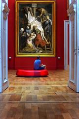 """""""Si l'essentiel c'est l'acteur, l'important c'est le spectateur."""" de Guy Alloucherie (Chocolatine photos) Tags: tableau cadre lille palais beauxarts photo photographesamateursdumonde pdc makemesmile nikon flickr coloré"""