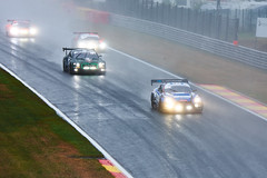 Wet start, 24 hours of Spa Francorchamps, 2019 (Thibault Gaulain) Tags: nikon d7200 tamron 100 400 100400 belgium belgique spa francorchamps circuit track sport course race racing voiture car auto automobile outdoor outside blancpain endurance series sro battle fight intercontinental gt challenge pirelli tyre tyres wing racecar downforce 2019 24 24h heures pluie rain weather wet pro am proam water été summer clouds fence gt3 nissan gtr godzilla r35 bentley continental audi r8 bruxelles rivage hairpin