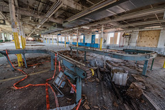 Conveyor Belt (rantropolis) Tags: abandonedfactory abandoned factory conveyor belt card playing cards urbex urbanexploration nikon d750 15mm