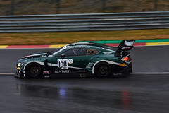 Bentley Continental, 24 hours of Spa Francorchamps, 2019 (Thibault Gaulain) Tags: nikon d7200 tamron 100 400 100400 belgium belgique spa francorchamps circuit track sport course race racing voiture car auto automobile outdoor outside blancpain endurance series sro battle fight intercontinental gt challenge pirelli tyre tyres wing racecar downforce 2019 24 24h heures pluie rain weather wet pro am proam water été summer clouds fence gt3 bentley continental bruxelles rivage hairpin msport