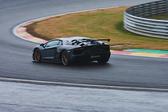 Lamborghini Aventador, pre-race, 24 hours of Spa Francorchamps, 2019 (Thibault Gaulain) Tags: nikon d7200 tamron 100 400 100400 belgium belgique spa francorchamps circuit track sport course race racing voiture car auto automobile outdoor outside blancpain endurance series sro battle fight intercontinental gt challenge pirelli tyre tyres wing racecar downforce 2019 24 24h heures pluie rain weather wet pro am proam water été summer clouds fence gt3 bruxelles rivage hairpin