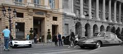 Old vs New car. Paris, juillet 2019 (Bernard Pichon) Tags: paris france bpi760 concorde fr75 citroën ds lamborghini aventador voiture sport collection