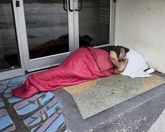 Person sleeping in a Doorway (DayBreak.Images) Tags: urban city atlanta l5p georgia homeless canondslr canoneflens lightroom