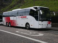 Landtourer Coaches of Fareham Mercedes Benz Tourismo BN17JHE, in Globus livery, at Johnston Terrace, Edinburgh, on 25 June 2019. (Robin Dickson 1) Tags: edinburghbuses landtoureroffareham mercedesbenztourismo bn17jhe globustours