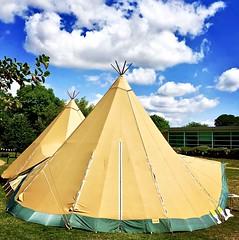 CloudsOverTepee (Hodd1350) Tags: wimborneminster dorset clouds bluesky tent tepee trees iphone8plus iphone willowwalk