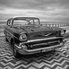 Old timer D - 1-1 B&W (Drummerdelight) Tags: oldtimer car lowpov wenduine retro