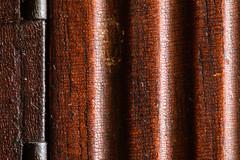 cabinet leg (jlodder) Tags: macromondays madeofwood cabinetleg cracked varnish 1x 11 hinge