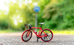 BICYCLE 1 (Alan Piano Photography) Tags: sun street soft sky story sony straat beautiful foto fotograaf fine fiets alpha a7r3 a7riii camera city epe holland photo photography photoshoot red art bicycle test tamron testing toys