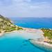 Der Strand von Punta Molentis auf Sardinien, Italien