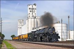 UP 4014 (Justin Hardecopf) Tags: up unionpacific 4014 alco bigboy 4884 steam engine locomotive passenger special wagner mills grain elevator schuyler nebraska railroad train