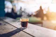 Hot Coffee (Yannick Charifou Photography ©) Tags: nikon d850 afs28mm14e wideopen bokeh fog depthoffield dof flare sunset sunrise coucherdusoleil coffee café hot drink holidays iledelaréunion yannickcharifouphotography