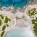 Luftbild vom Strand Punta Molentis auf Sardinien, Italien
