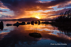Sunset above and below (mike in mayo) Tags: sunset ireland