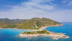 Punta Molentis in Sardinia, Italy, a view from the south