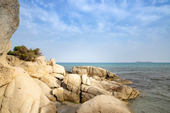 Rocks at Simius Beach in Sardinia, Italy