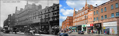 Camden High Street`1910-2019 (roll the dice) Tags: london nw1 camdentown camden old sad mad vanished demolished surreal shops shopping fashion retro bygone local history streetfurniture poundland architecture chimney oldandnew pastandpresent hereandnow urban england uk classic art canon tourism tourists changes collection traffic nostalgia comparison horsecart travel transport bus windows clock bedding carpets lights culture