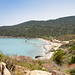 Aerial view of Capo Carbonara Beach in Sardinia, Italy